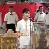 三宅由佳莉さん、フィジー(スバ)での両国歌独唱