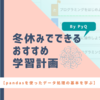 【冬休みでできるおすすめ学習計画(PyQ)】「pandasを使ったデータ処理の基本を学びたい人」向け