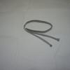 【帯締め】グレーのシンプルな三分紐(三分紐)