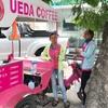 ウエダコーヒーさんの移動販売車(中国大使館前)。