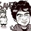 似顔絵 ASKA飛鳥と小保方さん SAY ES…(細胞)