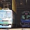 叡山電鉄、デビュー前のデオ723リニューアル車を見る。