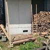 薪ストーブ前史42 仮設の薪棚を作る