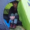 寒い夜のテントでも熟睡できる。そう、枕とアレがあればね。
