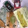 カフェインレス飲料4種の飲み比べ(たんぽぽコーヒー、とうもろこし茶、ルイボス、カフェインレスコーヒー)