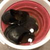 革靴の丸洗い:雨で濡れて塩吹きした革靴を洗う!