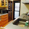 洗った直後の食器は、ここに置いています