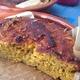 ✴︎素材の甘みを味わう、オレンジ風味の素朴なパンプキンコーンブレッド、(覚書き)、クランベリーソース添え