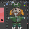 犬のおまわりさんの3Dモデルを作ろう!(blender~データ転送編)24