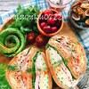 きな粉ブランパンで☆八丁味噌ヨーグルト豚しゃぶのハムぱくサンド