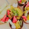 キャンプにフルーツを きゅうりに彩りを🎨