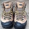 軽登山靴の紐