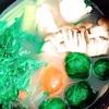 鶏ガラスープの山椒香るお鍋で、もち麦雑炊