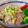 【レシピ】豚こまハンバーグのやみつきネギ塩ダレ