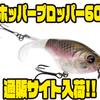 【リバー2シー】人気プロップルアーの最小サイズ「ホッパープロッパー60」通販サイト入荷!
