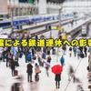 地震による鉄道運休への影響