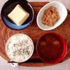 玉子豆腐、小粒納豆。