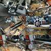 ワンオフ!!トリプル出しセンター圧力放出型ガトリングマフラー完成^^!本気で設計^^