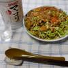夕食:カレー・キャベツ