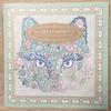 「ねこと花もようのぬり絵ブック」本の紹介とP39の作品
