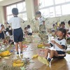 七夕飾り作り(2年生)、野外活動(5年生)
