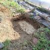 庭の自作池のリニューアルの続き