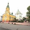 ウクライナ旅行[72] (2019年5月) キエフの観光スポット:ミコラナ・ベレジヌイェ教会、聖十字架教会