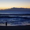 朝日の海の写真