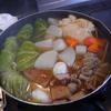 幸運な病のレシピ( 1048 )夜:おでん(ロールキャベツ、牛すじ)、餃子(小滝橋風)、エビ焼き