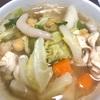 コンソメスープと鶏スープかけご飯