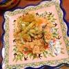 茄子と雑穀マリネの林檎ポテサラ