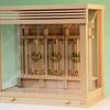 最も小さなガラスケース入りの箱型神棚 三社の神棚