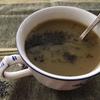 ネギと里芋のスープ/ 焼き芋入りグリーンカレー