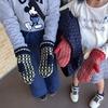 手編みミトン手袋