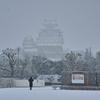 姫路城十景番外編:雪の中の姫路城