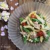 スナップエンドウとツナのフジッリサラダ|桜の時期