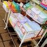 湊川神社の西隣の寺田タオルさん、可愛らしいタオル買ってしもた