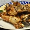 豊洲の「米花」でオコゼ唐揚げ、牛と鶏と牛蒡の煮物、里芋煮、鰯のつみれ汁。