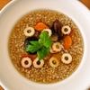 そば米汁で朝食を。時に朝トムヤム