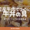 【おうちコープの冷凍食品】国産牛肉でつくった牛丼の具。レンチンでも湯せんでもOK、安心原料で美味しい丼が完成