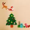 クリスマスの壁面装飾