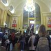 ウクライナ旅行[88] ボリスピル国際空港からのキエフ市内行きバスの終着駅:キエフ鉄道駅(Kiev Railway Station)内部の様子(2019年10月)