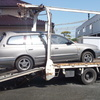 三郷市からレッカー車でパンクの車検切れ故障車を廃車引き取りしました。