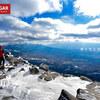 【八ヶ岳】蓼科山、北八ヶ岳に構える女の神山、雪景色の写真撮影登山