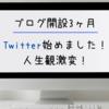 ブログ開設3ヶ月の収益報告 Twitterを始めました!