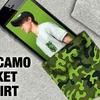 【EVERGREEN】胸ポケットのオリカモパターンがユニークなハーフスリーブTシャツ「オリカモポケットTシャツ」通販予約受付開始!