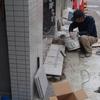 ビルの建て替えプロジェクト エクステリア 御影石貼り