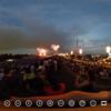 荒川河川敷 夜店と花火大会 THETAで撮影する #360pic