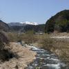 県北の山の雪はまだ消えていなかった