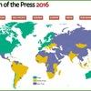 「報道の自由度」ランキング、フリーダムハウス版と国境なき記者団版に大きな開き